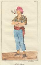Marinaio italiano, 1840 bulino acquarellato