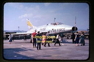 1950-039-s-USAF-North-American-F-100-Super-Sabre-Aircraft-Germany-Orig-Slide-a2a