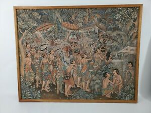 UBUD-Indonesia-Balinese-Painting-by-Bali-Artist-Original-Signed-in-Wooden-Frame