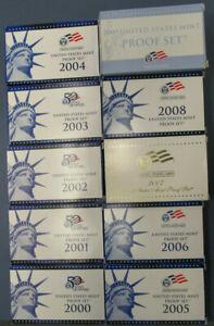 2000-2009 Proof Sets
