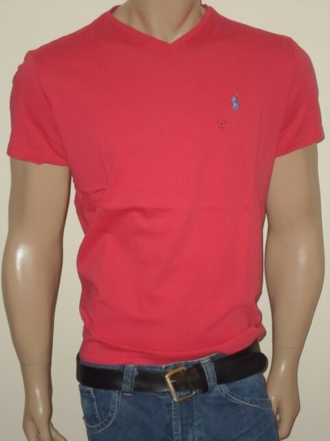 4a32bf763 Polo Ralph Lauren Mens Classic Fit V-neck T-shirt 100 Cotton Regular S Red.  About this product. Picture 1 of 2; Picture 2 of 2. Picture 2 of 2