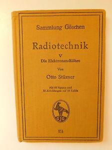 """Book from 1927 """" Radiotechnik 5 die Elektronenröhre"""" von Dipl.-Ing. Otto Stürner - Wolbrom, Polska - Book from 1927 """" Radiotechnik 5 die Elektronenröhre"""" von Dipl.-Ing. Otto Stürner - Wolbrom, Polska"""