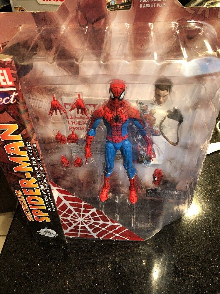 Marvel Diamond Select Spectacular Spiderman Spider Man 7  Action Figure New