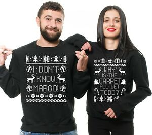Couples Christmas Sweaters.Details About Christmas Sweaters Couple Ugly Christmas Sweater Funny Christmas Gifts