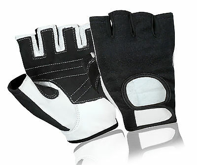 Leather Half Finger Bus Driving Gloves Motorbike Gym Fitness Cycling Wheelchair