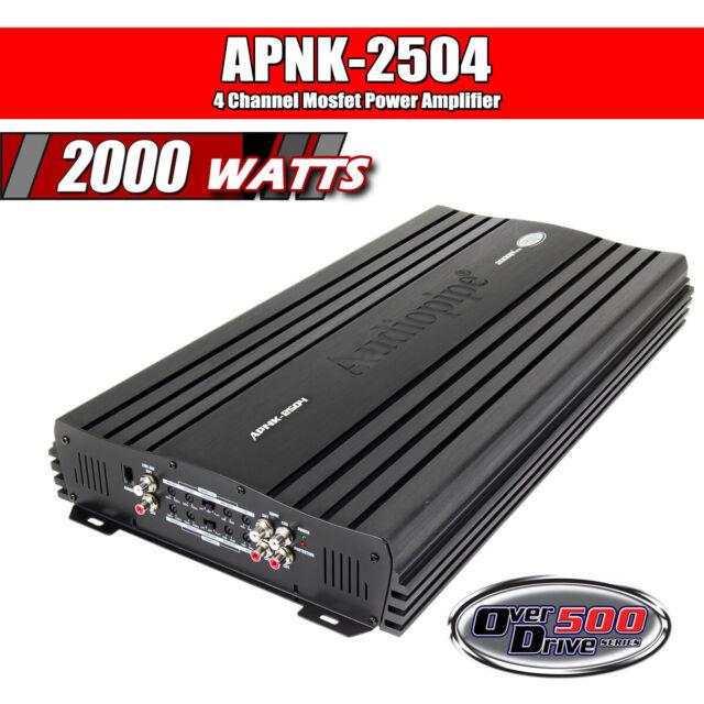 Audiopipe APNK2504 Amplifier 4 Channel 2000 Watts Max
