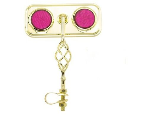 Gold Caged Rectangle Bicycle Mirror Reflectors Cruiser Lowrider Bikes