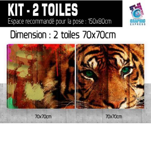 TABLEAU TOILE IMPRIMEE TIGRE TIGER ART POSTER DECO MURAL PORTRAIT TIG03