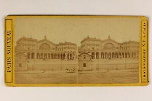 Francia-Parigi-Gare-Da-L-E-Strasburgo-c1870-Foto-N-C-Stereo-Vintage-Albumina