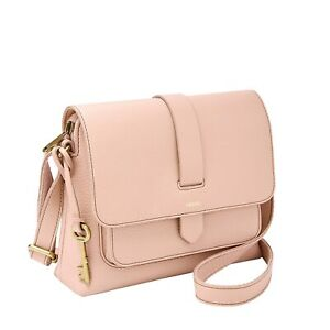 NWT-FOSSIL-ZB7912656-KINLEY-SMALL-LEATHER-CROSSBODY-BAG-DUSTY-ROSE-PINK