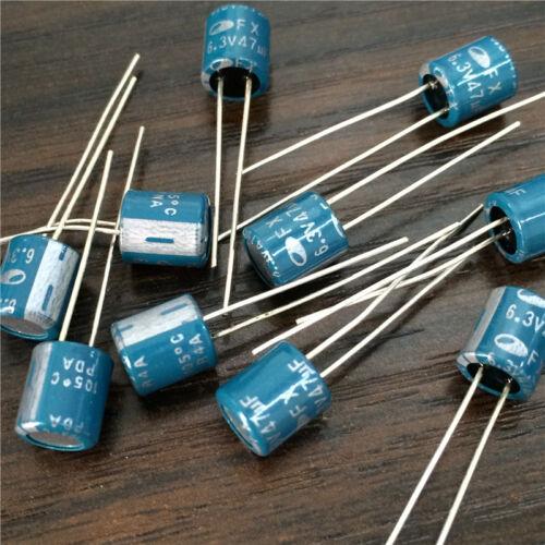 20pcs 6.3V47UF 6.3V FX 6X7mm motherboard PC repair SAMWHA solid capacitor
