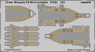 Eduard 1/24 De Havilland Mosquito Fb Mk.vi Cinture Sedili Acciaio #23028