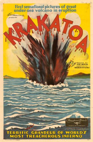 Krakatoa vintage Graham McNamee 1933 movie documentary poster print