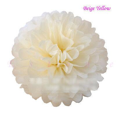 "10pcs 6"" 8"" 10"" 12"" 15"" Tissue Paper Pom Flowers Balls Wedding Party Decor"