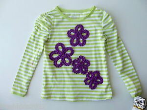 b997e2055 So Jenni Lime Green Girls Striped Long Sleeve Shirt size 3T/3 NWT ...