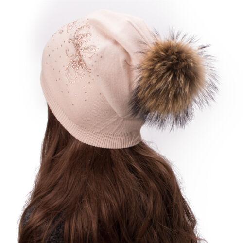 Schmetterling Strass Frauen Kaschmir Wolle Beanie  Skimütze Wintermütze A480