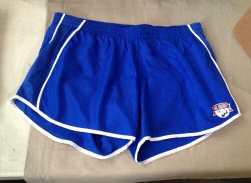 NFHS Football Mens L Large 100/% Polyester Athletic Blue Shorts Mt Arrat 177