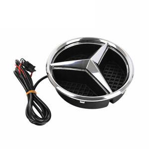 Auto-Front-belichtete-LED-Grill-Logo-Emblem-Ausweis-Licht-fur-Mercedes-Benz