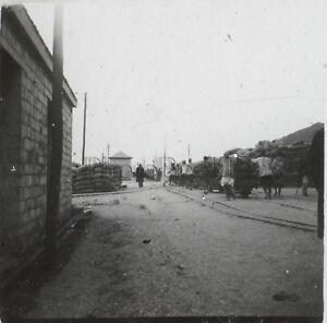 Africa Chemin Da Ferro Foto Q21 Placca Lente Stereo Positive Vintage Ca 1920