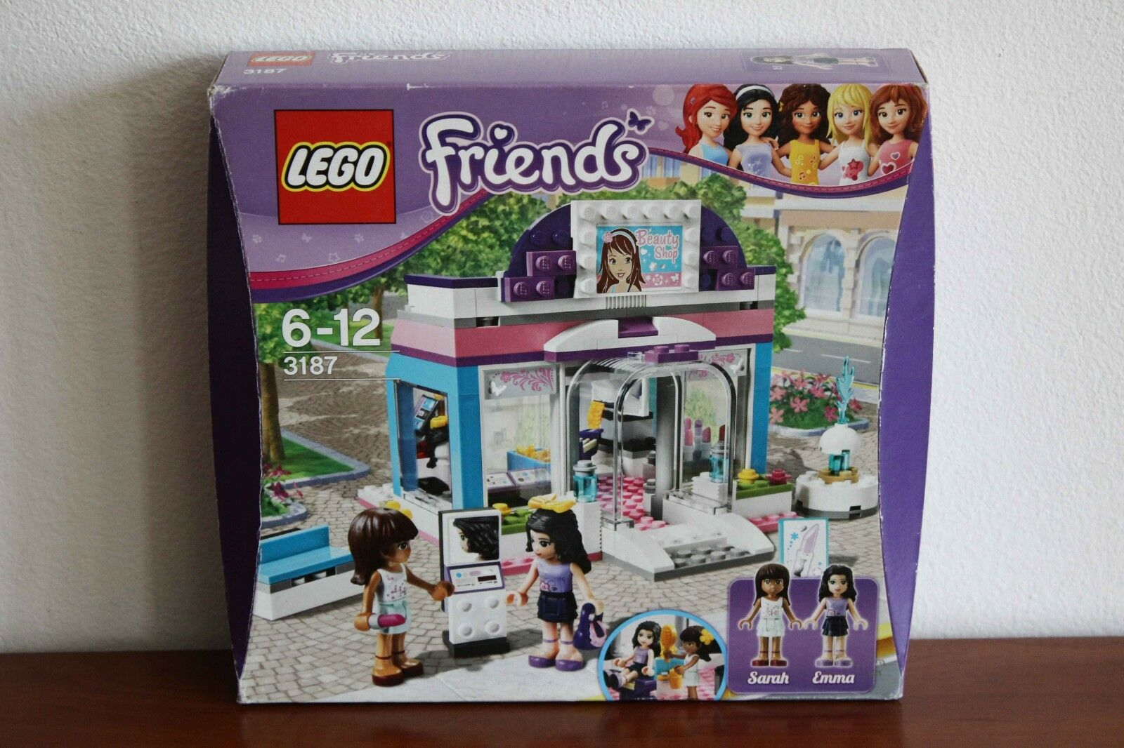 Lego Friends Set 3187 1 Butterfly Beauty Shop 100 Complete Box