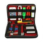 Black Zippered Case Bag Cables Organizer USB Flash Drive Chargers Headsets