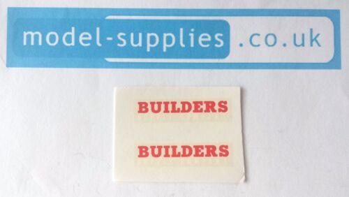 Matchbox 60A Morris recoger los constructores REPRO tobogán transferencias Set Carta Blanca