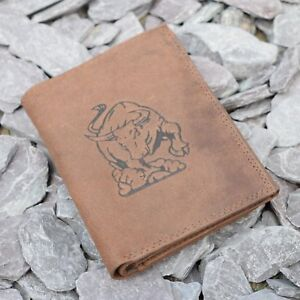 Mens-Leather-Tall-Wallet-with-Bull-Logo-embossed-in-Brown-Hunter-Suede