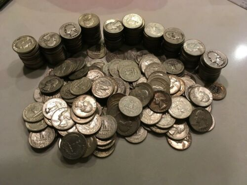 Free Shipping! Lot of 20 Washington Quarters 90/% Silver Random Dates 1932-1964