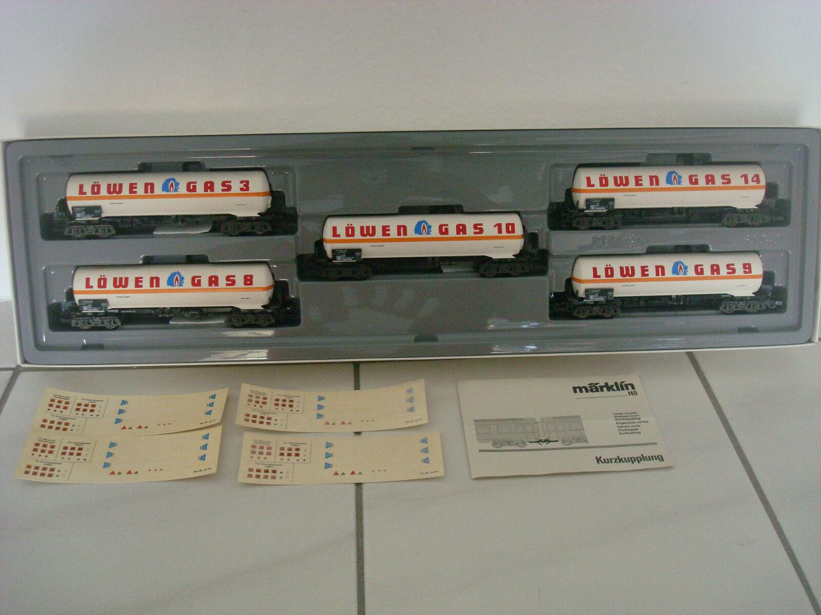 MÄRKLIN HO 4798 Kesselwagen-Set  Löwengas   | Qualität Produkte