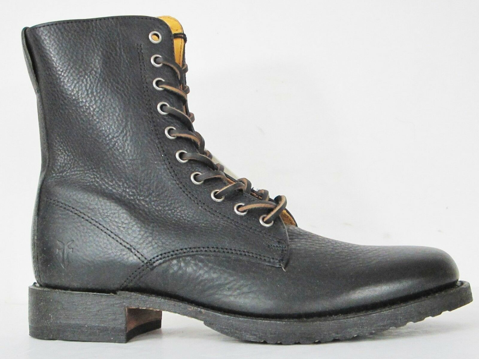 FRYE BOOTS Rand Lace Black Full Grain Leather Boots 87581 SZ 9  348