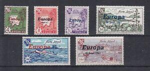 Europe-Cept-1961-Herm-6-Values-Cinderella-MNH