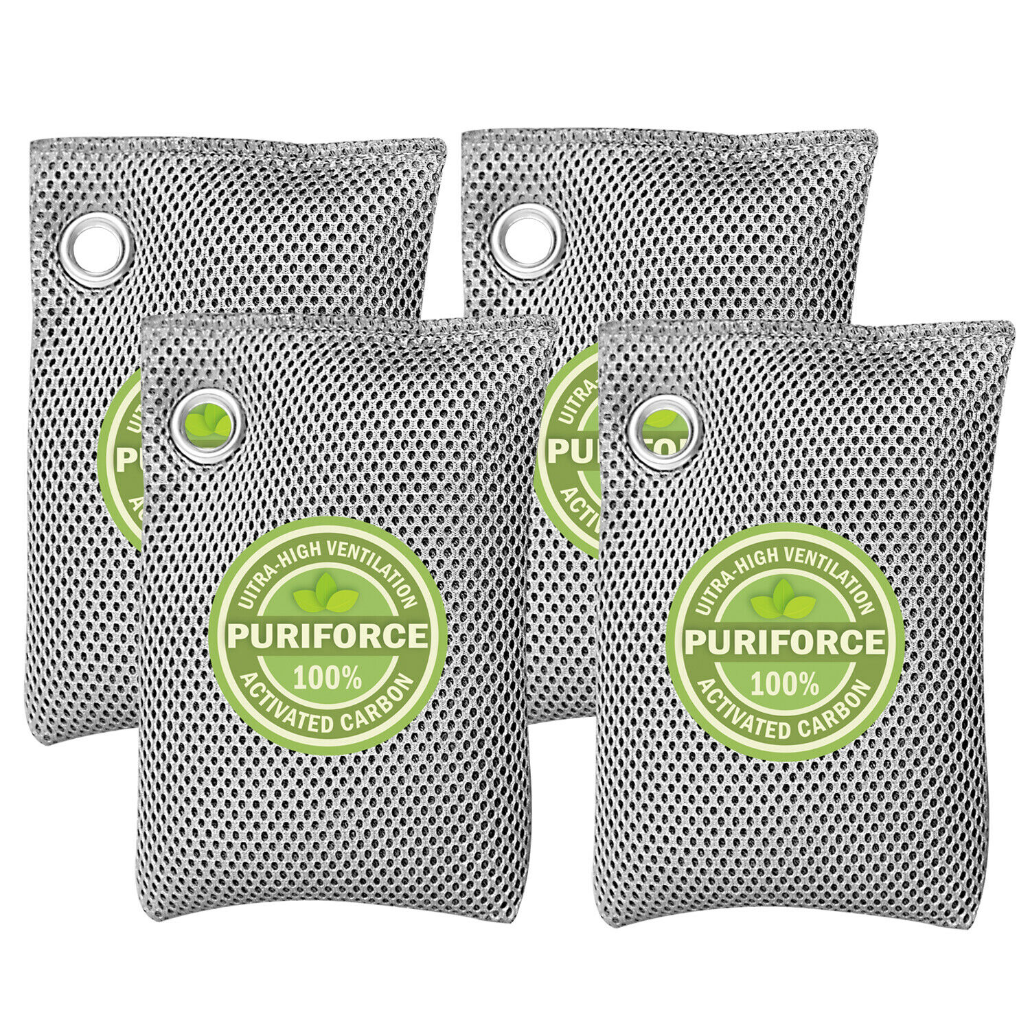 Nature Fresh Air Purifier Bag Style Charcoal Bamboo Purifying Mold Odor 4Pk 10
