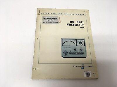 Test, Measurement & Inspection Schematic HP Hewlett Packard 419A ...