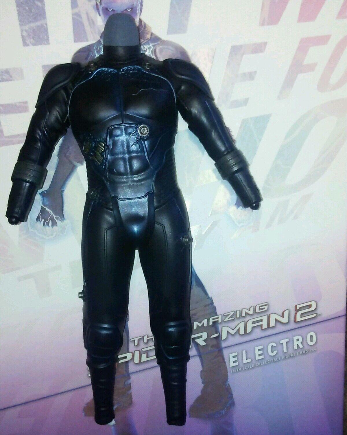 1 6 Hot Toys électro corps avec bleu costume noir avec lumière DEL MMS246 US Vendeur