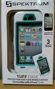 Apple-iPhone-4-4S-Cell-Mobile-Phone-Cover-Spektrum-Tuff-Case-NEW