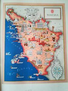 Siena Cartina Toscana.50 Vecchia Cartina Toscana Lucca Pisa Pistoia Siena Arezzo Grosseto Livorno Ebay