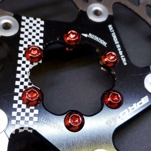 12pk Disc Brake Rotor Bolts Torx T25 M5x10mm SRAM MTB Road Bike