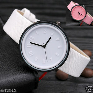 Fashion-Women-039-s-Canvas-Band-Roman-Numerals-Dial-Quartz-Bracelet-Wrist-Watches