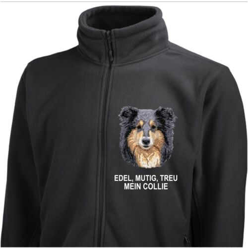 Color Giacca Collie pile in di Tri Siviwonder Ricamo Dog rPIPZqz