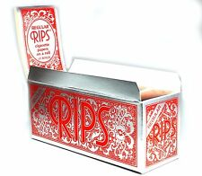 10 Rips Cigarette Rolling Papers on a Roll - Regular Size - Box of 10 Rolls
