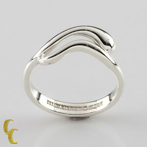 25202f5cf Tiffany & Co. Sterling Silver Elsa Peretti Teardrop Snake Band Ring ...