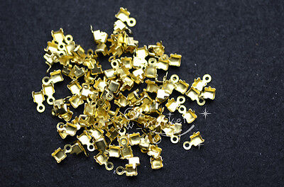 Connector for rhinestone chain trims brass 100 pcs