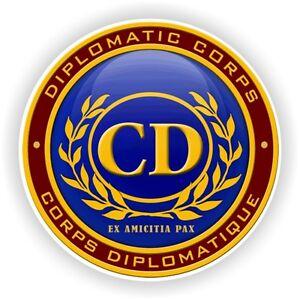 CD-CORPS-Diplomatic-Seal-STICKER-bumper-badge-emblem-Aufkleber-autocollant-logo