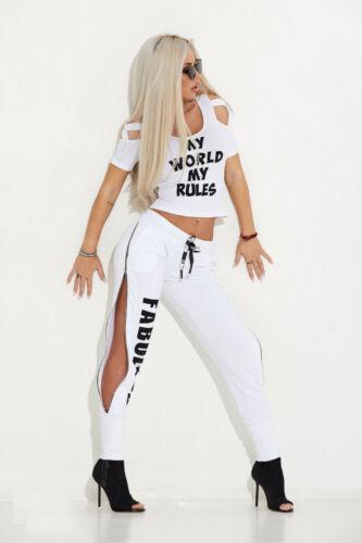 By Alina mexton Donna HIGH-WAIST Jogging Pantaloni Gym Fitness Sport Pantaloni Zipper XS-M