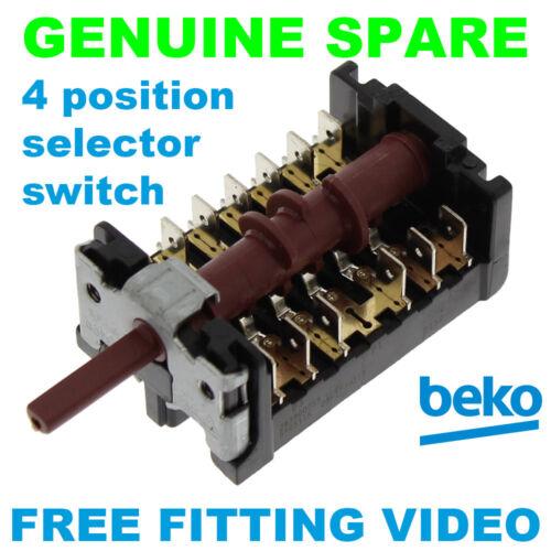 Beko bdqf 24300B BE92FVW BE92FVX 4 posizione selettore forno 263900055