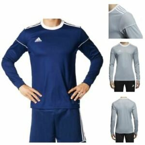 Details about Adidas Squadra 17 Training Top Men's Soccer Football Jersey Navy/Silver BJ9192