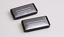 2-Pinces-Ceintures-Voiture-Clip-Universelle-Aspect-Aluminium-Brosse miniature 1