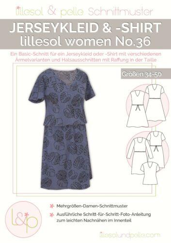 Lillesol /& Pelle Schnittmuster women No36 Jerseykleid Papierschnittmuster