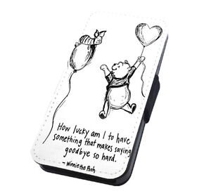 Winnie The Pooh Quote Flip Phone Case Cover For Iphone And Samsung