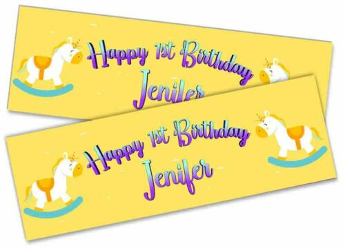 Details about  /x2 Personalised Birthday Banner Unicorn Children Kids Party Decoration 38